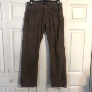 GAP Men's Brown Corduroy Pants 100% Cotton 34 X 34